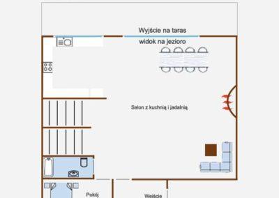 Dom Wiejska Chata - rzut